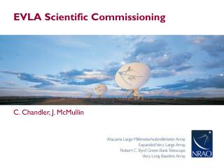 EVLA Scientific Commissioning