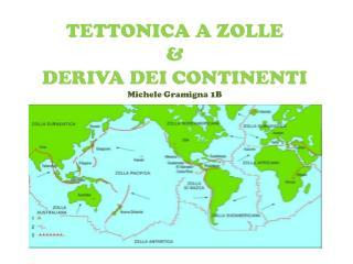 TETTONICA A ZOLLE  &  DERIVA DEI  CONTINENTI Michele Gramigna 1B
