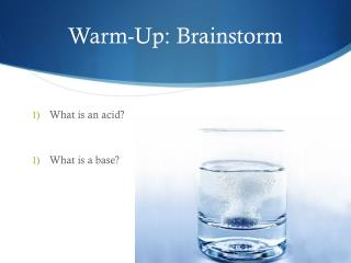 Warm-Up: Brainstorm