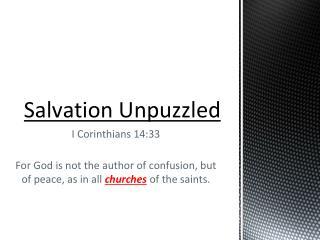 Salvation U npuzzled