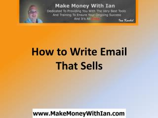 How to Write Email That Sells