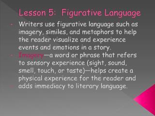 Lesson 5:  Figurative Language