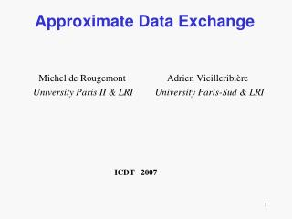 Approximate Data Exchange