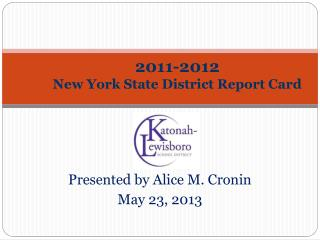 2011-2012 New York State District Report Card