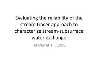 Harvey et al.,  1996