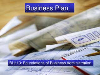 The Business Plan BU113: Foundations of Business Administration