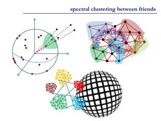 spectral clustering between friends