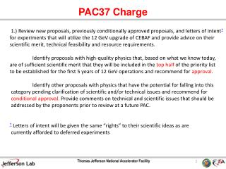 PAC37 Charge