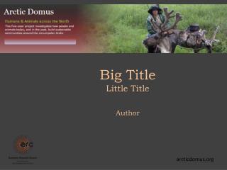 Big Title Little Title Author