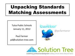 Unpacking Standards Matching Assessments