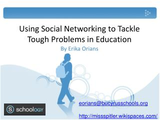 Using Social Networking to Tackle Tough Problems in Education