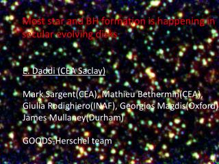 Most star and BH formation is happening in secular evolving disks