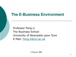 The e-Business Environment