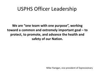USPHS Officer Leadership