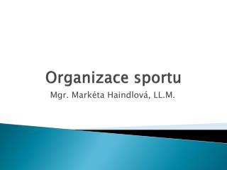 Organizace sportu