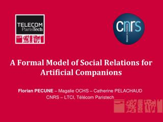 A Formal Model of Social Relations for Artificial  Companions