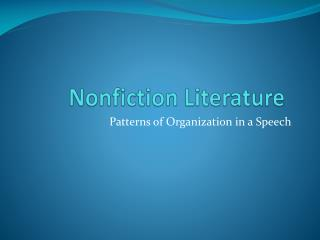 Nonfiction Literature
