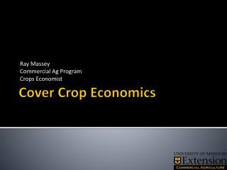 Cover Crop Economics