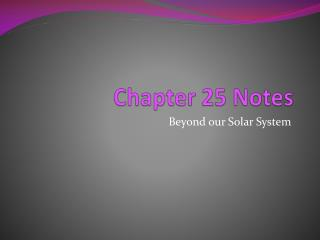 Chapter 25 Notes