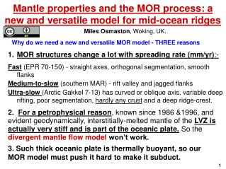 Mantle properties and the MOR process: a new and versatile model for mid-ocean ridges