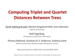 Computing Triplet and Quartet Distances Between Trees