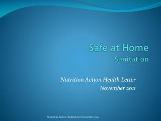 Safe at Home Sanitation