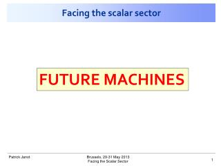 Facing the scalar sector