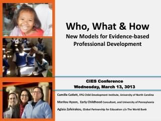 Camille Catlett,  FPG Child Development Institute, University of North Carolina