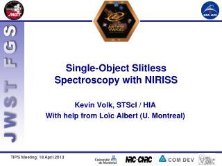 Single-Object  Slitless  Spectroscopy with NIRISS