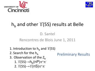 h b  and other  (5S) results at Belle