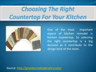 Choosing The Right Countertop For Your Kitchen