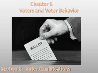 Chapter 6 Voters and Voter Behavior Section 2:  Voter Qualifications