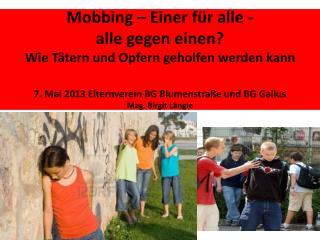 Mobbing - eine spezielle Form von Gewalt