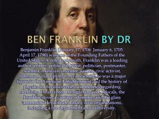 Ben Franklin  By DR