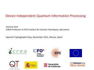 Spanish Cryptography  Days , November 2011 ,  Murcia,  Spain