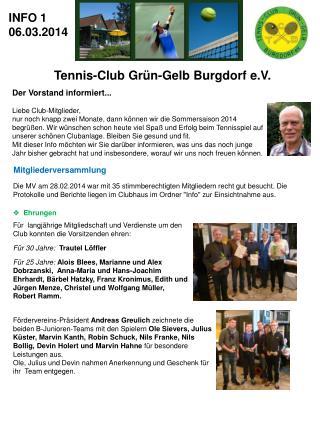 Tennis-Club  Grün -Gelb  Burgdorf e.V .