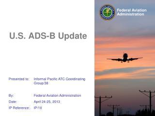 U.S. ADS-B Update