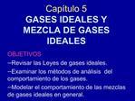 Cap tulo 5 GASES IDEALES Y  MEZCLA DE GASES IDEALES