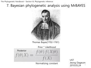 7. Bayesian  phylogenetic  analysis using  MrBAYES
