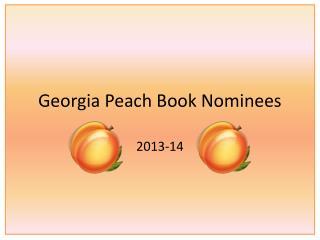 Georgia Peach Book Nominees