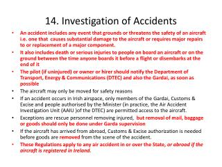14. Investigation of Accidents