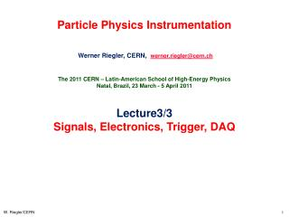 Particle Physics Instrumentation