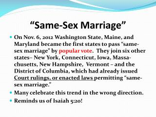 """Same-Sex Marriage"""