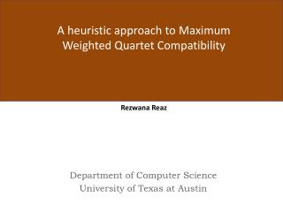 Department of Computer  Science University  of  Texas at Austin