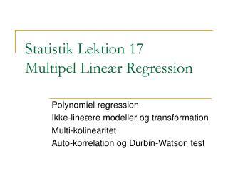 Statistik Lektion 17 Multipel Line