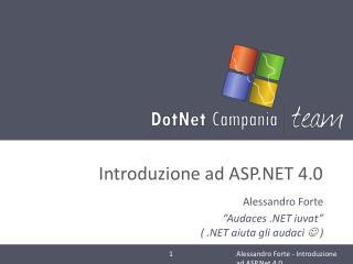 Introduzione ad  ASP.NET  4.0
