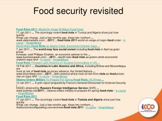 Food security revisited