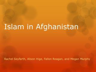 Islam in Afghanistan