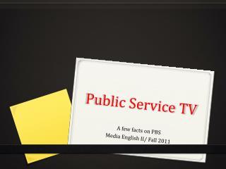 Public Service TV