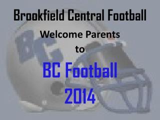 Brookfield Central Football